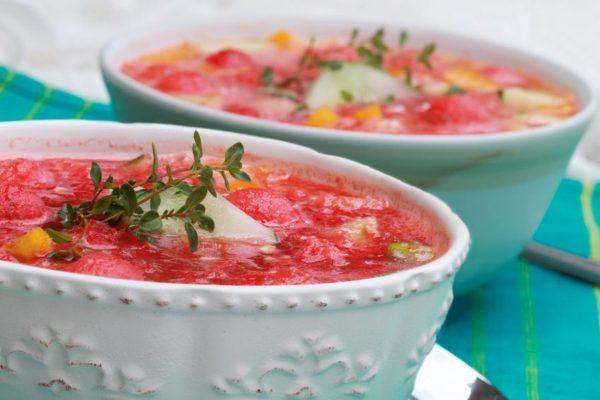 Wassermelonen Gazpacho Rezept