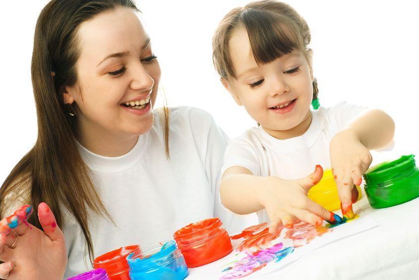 Fingerfarbe selber machen - malen mit Kindern und Fingerfarben