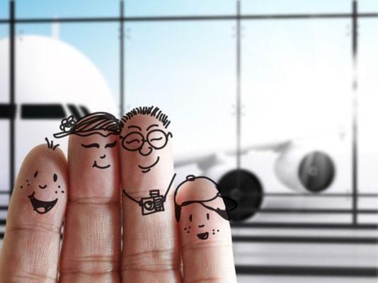 Flugreisen mit Kindern