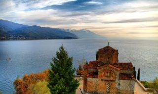 Familienurlaub in Mazedonien - Kirche St. Johannes bei Ohrid am Ohridsee in Makedonien