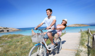 Familienurlaub auf Formentera - Urlaub mit Fahrrad am Strand