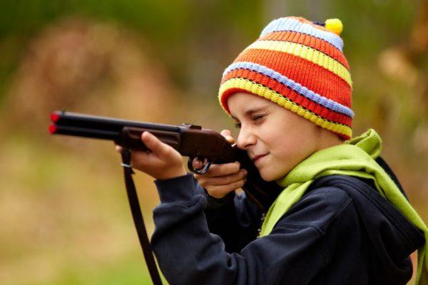 Waffen Spiele mit Spielzeugwaffen