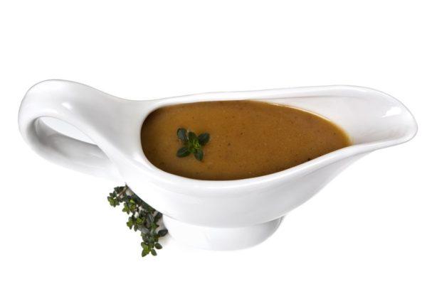 Rezept für braune, dunkle, vegane Bratensoße