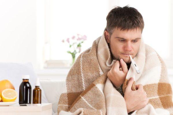 Fieber Temperatur Messen mit Fieberthermometer und Fieber Symptome