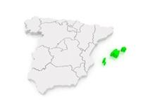 Landkarte Balearen Inseln