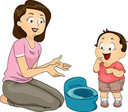 Wie Kinder trocken werden können
