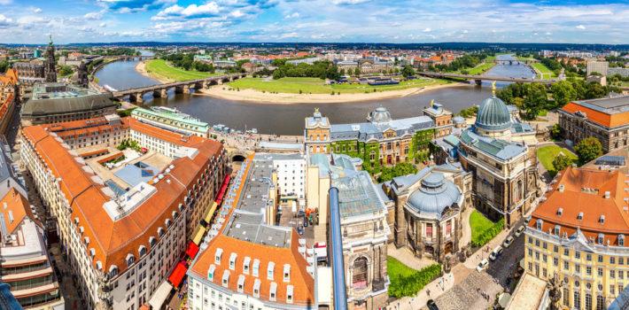 Panorama bei einem Familienurlaub in Dresden