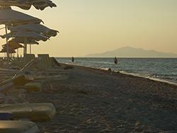 Strandurlaub in Griechenland Insel Kos mit Pferden im Meer