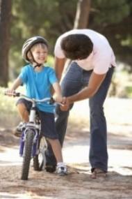 Wie Kinder Fahrradfahren lernen