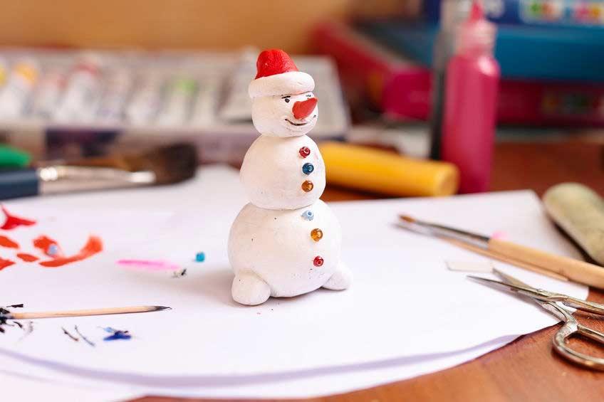 Salzteig: Schneemann basteln mit Kindern - socko