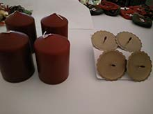 Adventskranz selber basteln mit vier Kerzen