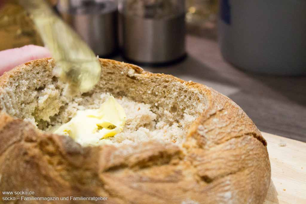 Rezept Käsefondue aus Brot