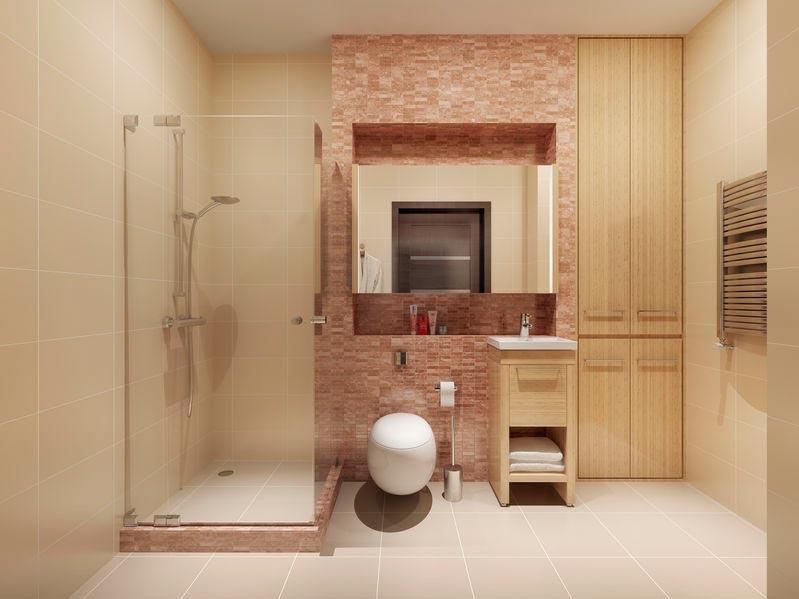 Familienbadezimmer modern und edel eingerichtet