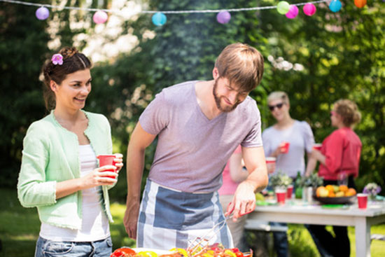 Familienfeste im Garten