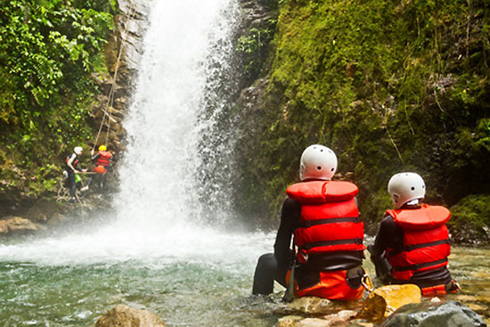 Familien-Canyoning mit Kindern