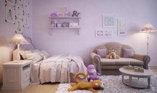 Kinderzimmerwand Rosa Streichen