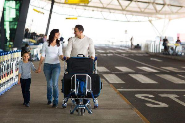 Reisegepäck für die Familie