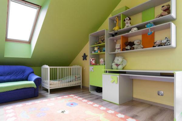 Dachboden für Kind ausbauen