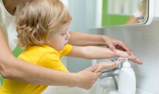 Erziehung zu einer guten Händehygiene