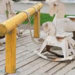 Holzpferd für den Garten